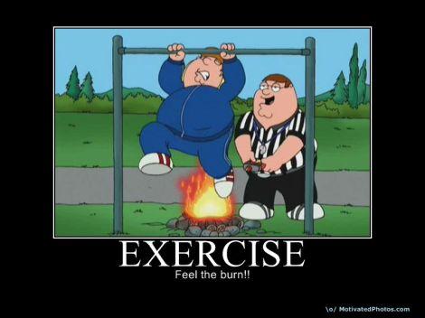 Peter Griffin bränner fett
